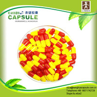 size 0 1 2 3 Red and Yellow empty hard gelatin Capsules