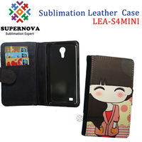 Custom Leather Phone Case for samsung galaxy s4 mini