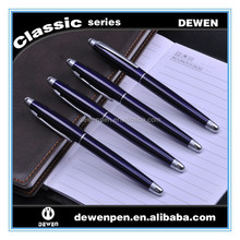 Square barrel metal ball pen and rollerball pen
