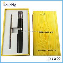 Hottest deluxe v5&e hookah vaporizer pen,dry herb vaporizer hookah pen