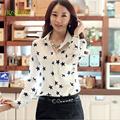 camisa de gasa de señora de la oficina de desgaste