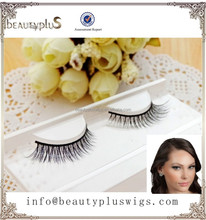 2015 hot sale wholesale price natural brown color sable mink fur strip false eyelash