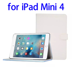 Factory price Sheepskin Texture Leather wallet case for iPad Mini 4 case