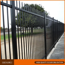 Powder coated security metal fence panel for villa