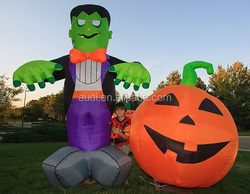 Gaint Inflatable Halloween decorative pumpkin and inflatable funny boy