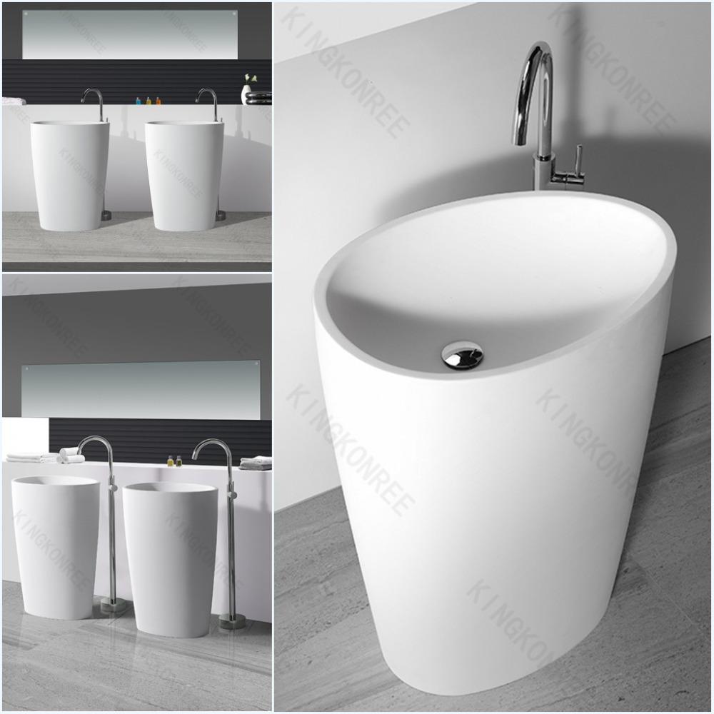 lange smalle badkamer wastafel/rechthoek wassen sink-badkamer, Badkamer