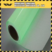 Hot Sale Fluorescent Reflective Material Light Green Luminescent Sheeting