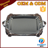 stainless steel food tray/silver plated brass tray/mirror serving tray with handle T444