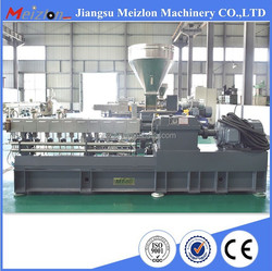 pvc granules making machinery expanded polystyrene granule co-rotating twin screw extruder