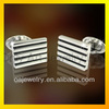 stainless steel cufflink with grooved shiny polished and painting 316L stainless steel cufflinks
