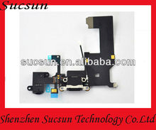 for Iphone 5g Charging Port Charger dock flex cable connector plug replacement Black