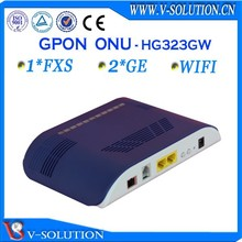 Fiber optical network ftth gpon wireless 2GE ont modem compatible with Huawei/ZTE/BDCOM OLT