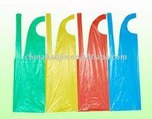PE Disposable Apron/ High Quality disposable hospital apron/ colored disposable apron