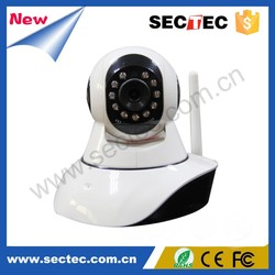 promotion! SECTEC HD wifi home ip cloud baby monitor camera