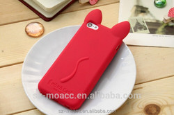 3D cut koko cat shape silicone animal phone case