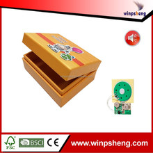 Custom Creative Mechanic Paper Music Box With IC Chip