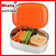 Material 304 Food grade Korean Rectangular Kids Stainless Steel Lunch Box