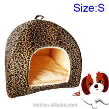 Paypal Accept! Yurt Pet Dog Cat Bed Indoor House Kennel With Plush Mat Pad