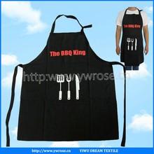 custom high quality black adjuster cotton kitchen apron