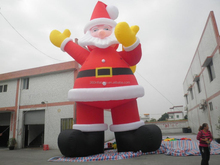 2015 new giant good quality inflatable Christmas decoration Santa Claus for outdoor using