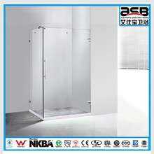 square 80x80cm size 8mm Tempered Glass comfortable shower cubicle