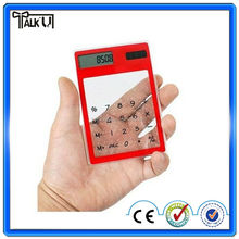 High quality electronic pocket digital transparent solar calculator, wholesale square mini solar calculator