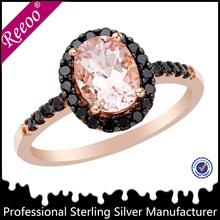 Rose Gold Vermeil Princess Cut Solitaire CZ Engagement Ring 2 ct