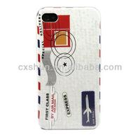 Envelope Design Hard Skin Case Cover for Apple Iphone 4/4S