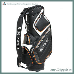 black leather new luxury golf cart bag