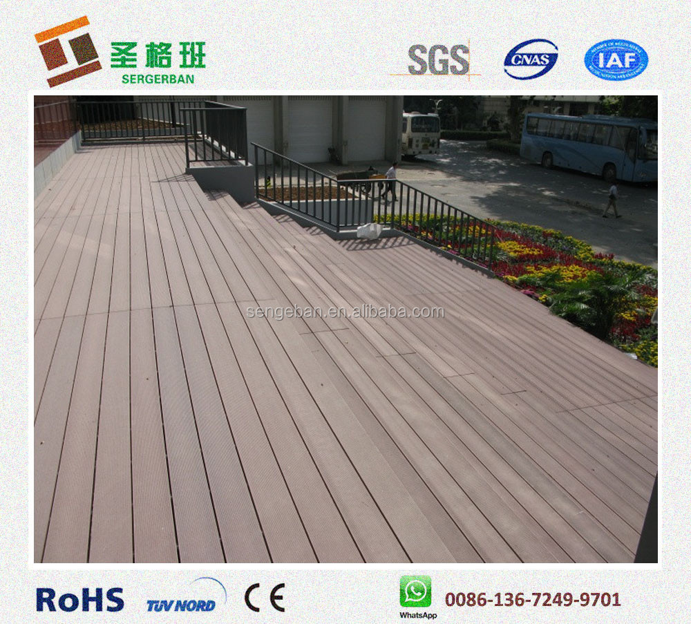 Eco friendly wpc flooring outdoor veneer decking composite for The range decking boards