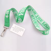 Factory direct sale eco-friendly woven lanyard with logo