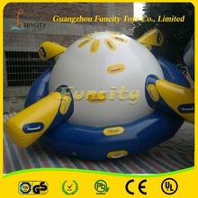 Creative Design 0.9mm PVC tarpaulin inflatable saturn water toys for sale