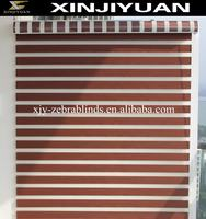 Solid color sunscreen fabric zebra blinds