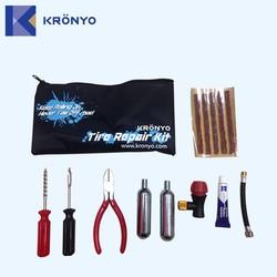 KRONYO car tyre air pump tyre changer car repair tool kit