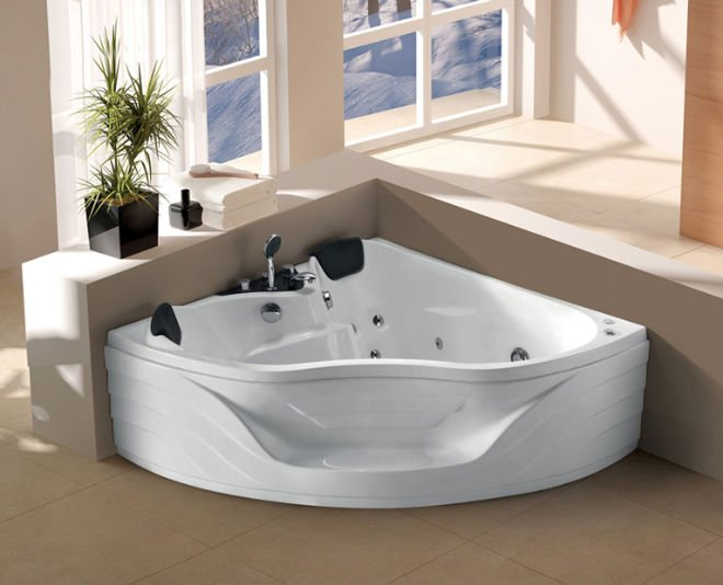 Tinas De Baño Jacuzzi:White Person Indoor Whirlpool Corner Bathtub Massage