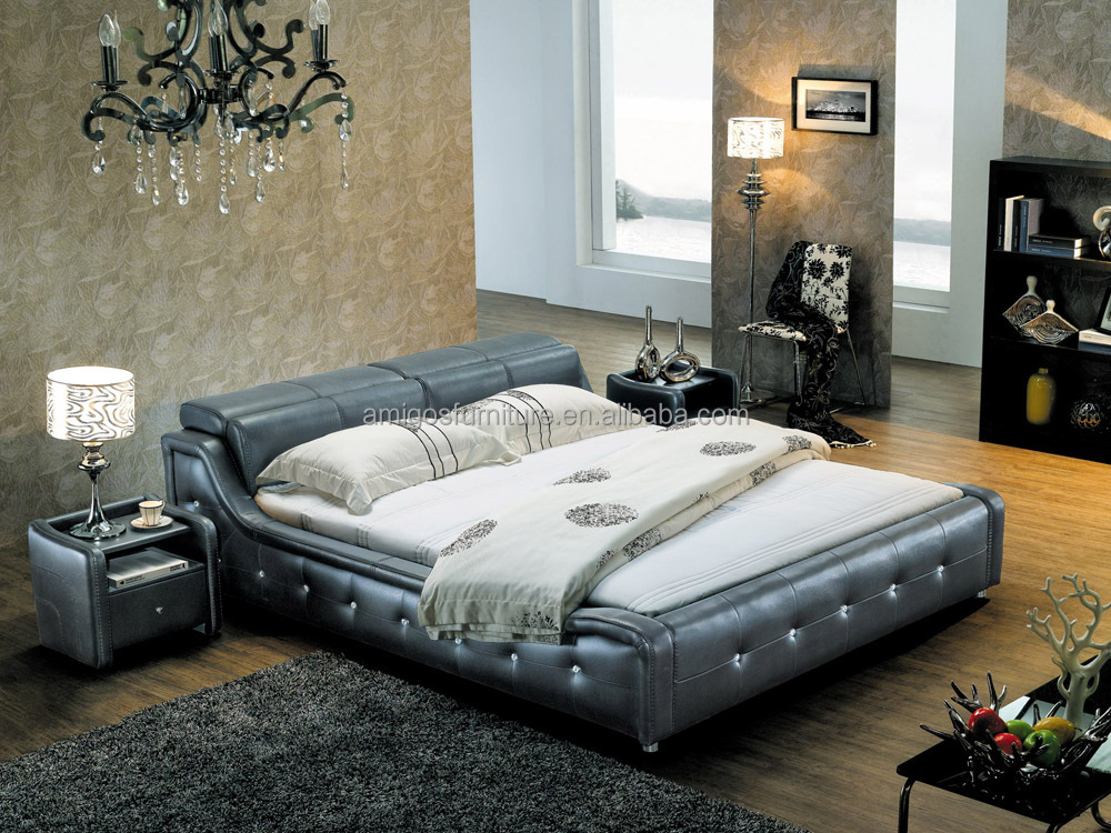 New Arrival design Functional Leather bed, designer princess bed 1000 x 750