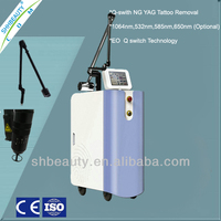 Q Switch ND Yag Laser for Tattoo Pigment Removal Beauty Machine