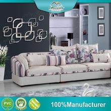 Customized designs decorative self adhesive living room mirror sticker wall decor