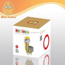 Mini Tudou loz diamond 3d construction toys plastic building blocks toys educational toys for boy kids