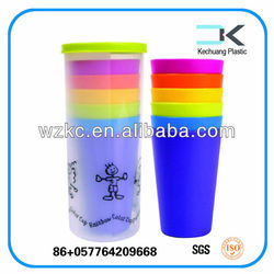 Rainbow color cup Plastic Party cup Picnic Cup