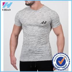Yihao Trade assurance Men's fitness Gray bodybuilding fitness Gym t shirt