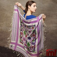 Turkish Square Scarf Wholesale Multipurpose Kashmir Wool Shawl Scarf