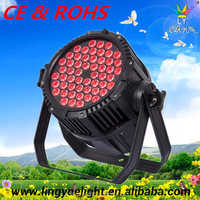 guangzhou 54x3w full color no noise concert light stage led lighting equipment