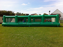 team football game inflatable pitch /inflatable soccer field party team game