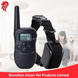 Waterproof Remote Pet Dog Training Collar of 300 Meters Range with 1-100 level Shock and Vibration as Safety Voltage for Pets