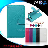 Hot selling mobile phone case design flip leather cover for Alcatel Idol 2 mini S 6036a