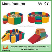 S shape game single-plank bridge soft play,baby gym equipment