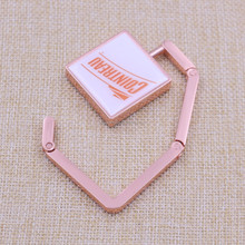 Square printing plating copper purse hook for sale