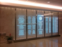 LED laminated glass for commercial buildings, EB GLASS