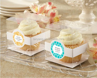 Clear hard plastic clear cupcake boxes PVC single cake boxes